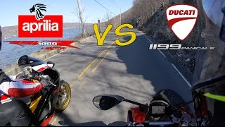 8. Aprilia RSV 1000 R Factory vs. Ducati 1199 Panigale