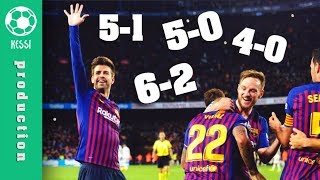 Video Barcelona DESTROY Real Madrid ● All Goals (5-0 5-1 6-2 4-0 3-0) - El Clasico MP3, 3GP, MP4, WEBM, AVI, FLV April 2019