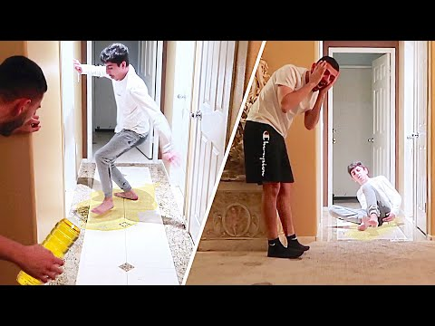 OIL SLIP PRANK ON FaZe RUG!! *HE GOT HURT*