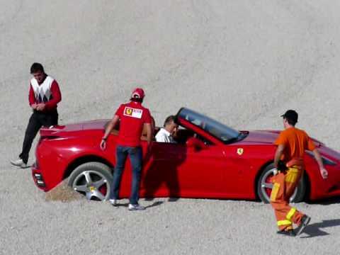 Primer día de Fernando Alonso con Ferrari