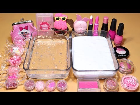 *Pink Collection #02 Mixing parts&glitter Section and makeup Section into Slime