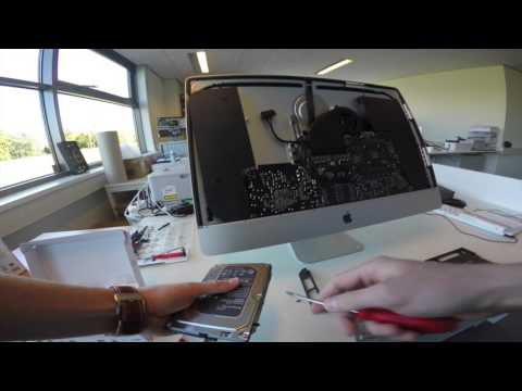 Apple 27 Inch Imac Retina 5K Replacing HDD for SSD Installation Video