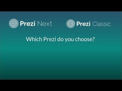 Two Different Prezis: Prezi Classic and Prezi Next