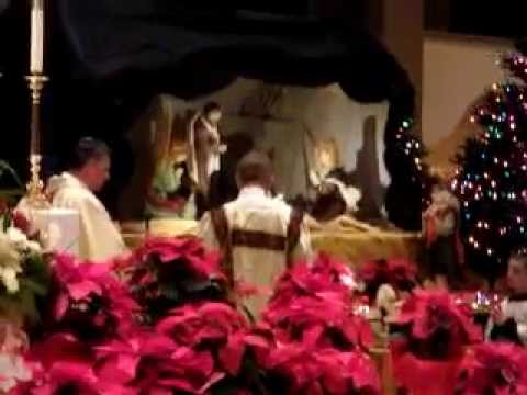 Nativity Blessing during Midnight Mass at Immaculate Conception Parish in Cottonwood, Arizona