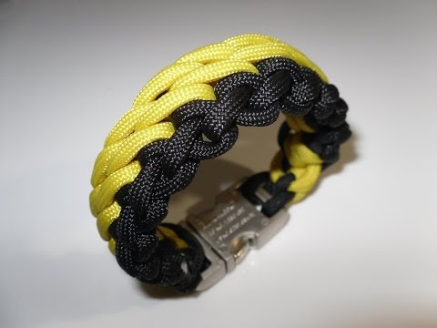 Paracord Armband flechten zweifarbig Anleitung in Deutsch auch als Blog