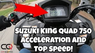 8. Suzuki KingQuad 750 | Acceleration and Top speed
