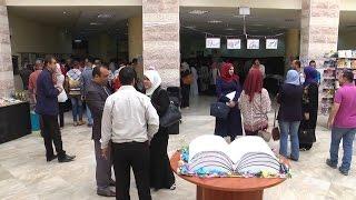 """إفتتاح معرض """"قبس"""" الثقافي الثاني للكتاب في جامعة خضوري"""