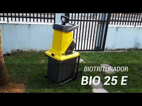 Triturador de galhos Bio 25 E - Triturando resíduos domésticos