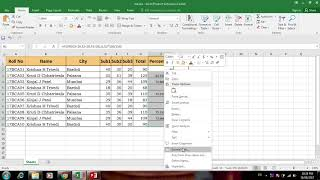 Student Mark sheet in excel 2016 with max min average if and countif function