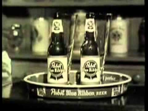 Vintage Pabst Blue Ribbon Beer Commercial