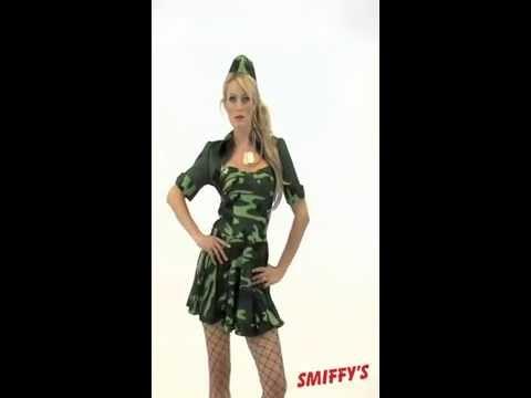 Déguisement de femme militaire