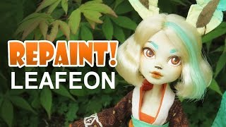 Video Repaint! Leafeon Pokemon Eeveelution custom OOAK Doll MP3, 3GP, MP4, WEBM, AVI, FLV November 2018