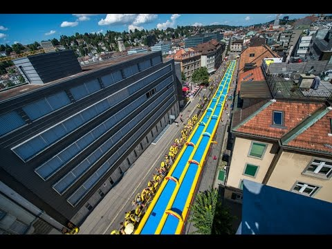 Slide my City 2016 – Die längste Wasserrutschbahn mitten durch die Schweizer Städte