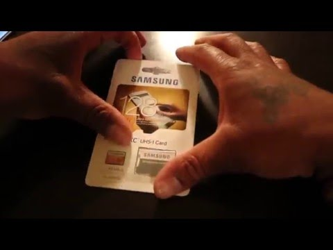Samsung 128gb MICRO SD CARD UNBOXING