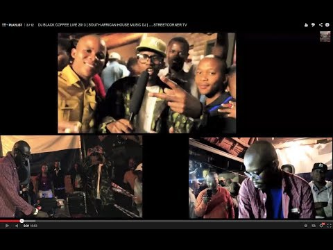 DJ BLACK COFFEE LIVE 2013 [ SOUTH AFRICAN HOUSE MUSIC DJ ] …..STREETCORNER TV