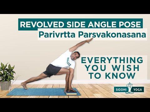 Parivrtta Parsvakonasana (Revolved Side Angle Pose)
