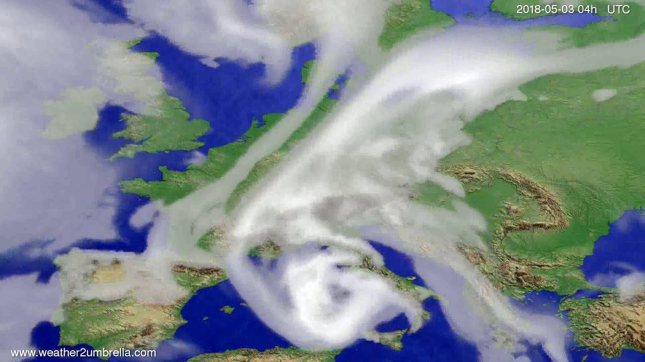 Cloud forecast Europe 2018-04-29