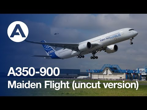 airbus - The A350 XWB has successfully completed its maiden voyage on Friday 14 June 2013. Airbus brought you this all-access backstage pass on a part of aviation history, offering this programme LIVE...