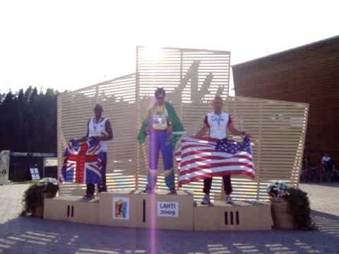 Israel Ferreira de Melo, 1� Lugar 400m rasos Atletismo Master 2009 - Finl�ndia