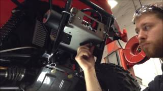 8. How to Install a Warn Winch Mount on a 2016 Arctic Cat Alterra 400