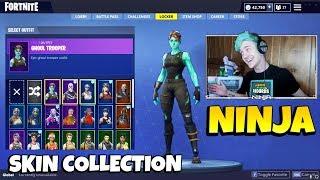 Ninja's Skin Collection With All RARE SKINS Ninja Has   Renegade Raider, Ghoul Trooper & More!