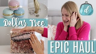 EPIC DOLLAR TREE HAUL! 💟 🙌 All new finds 2018!