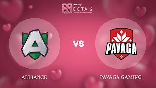 Alliance vs Pavaga Gaming - RU @Map1 | Dota 2 Valentine Madness | WePlay!