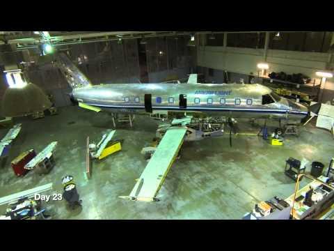 Ameriflight Airplane rebuild timelapse