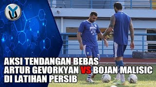 Download Video AKSI TENDANGAN BEBAS ARTUR GEVORKYAN vs BOJAN MALISIC DI LATIHAN PERSIB MP3 3GP MP4