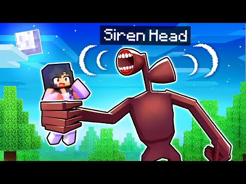 An ENDLESS NIGHT With SIREN HEAD In Minecraft!