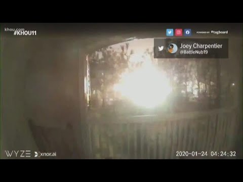 Watch: Doorbell camera captures explosion in NW Houston