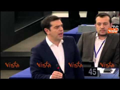 tsipras ricevuto a strasburgo: la verità in faccia ai burocrati europei!