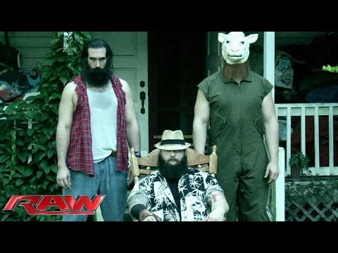 family - Bray Wyatt and his sinister disciples deliver a chilling address. See FULL episodes of Raw on WWE NETWORK: http://bit.ly/1wJ13X0 Don't forget to SUBSCRIBE: http://bit.ly/1i64OdT.