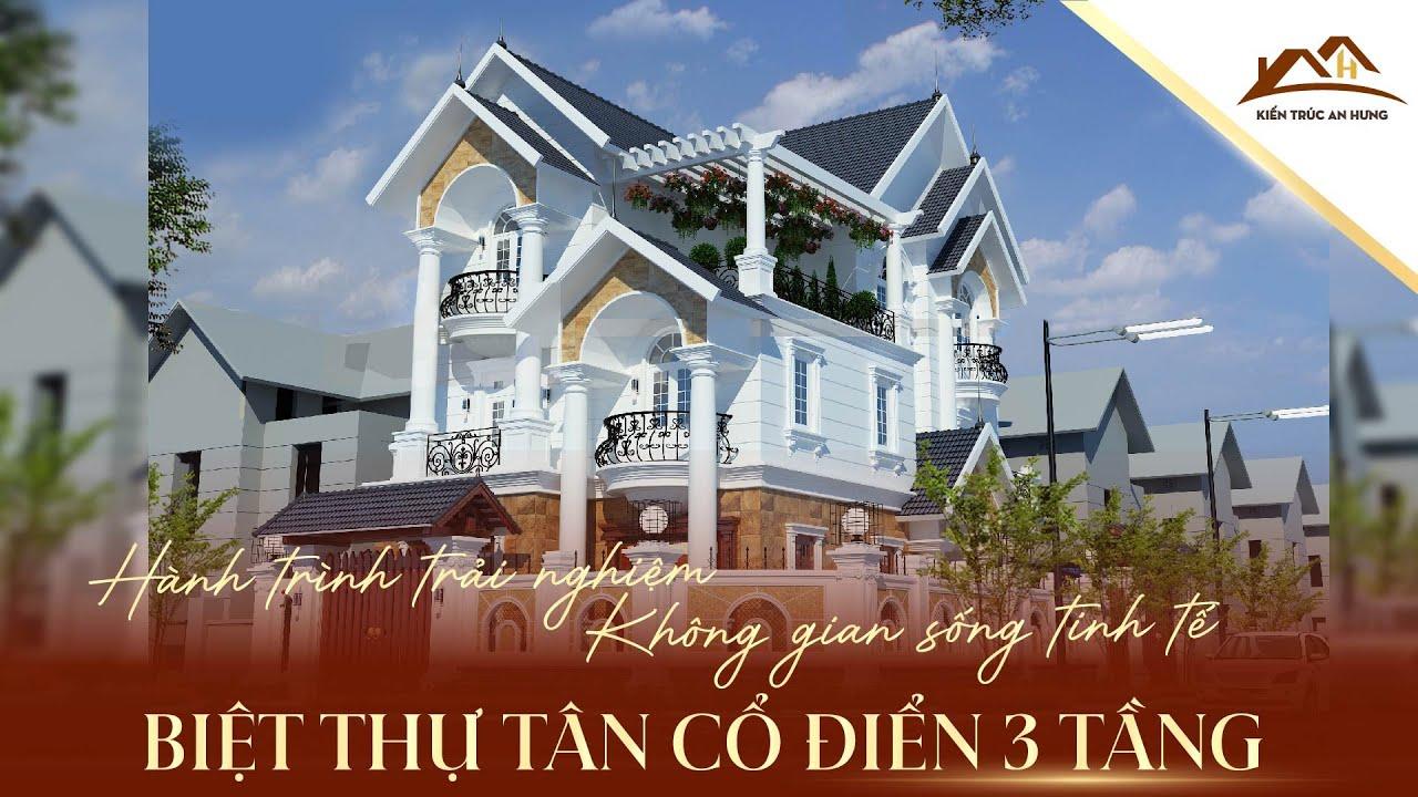 Thi công cải tạo biệt thự tân cổ điển 3 tầng Anh Thăng Long Biên