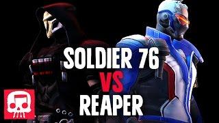 SOLDIER 76 VS REAPER RAP BATTLE by JT Music