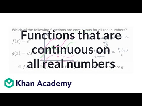 Functions Continuous On All Real Numbers Video Khan Academy