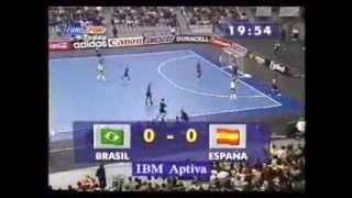 Download Lagu España vs Brasil MUNDIAL 1996 Coleccion futsal Spain vs Brazil futbol sala Mp3