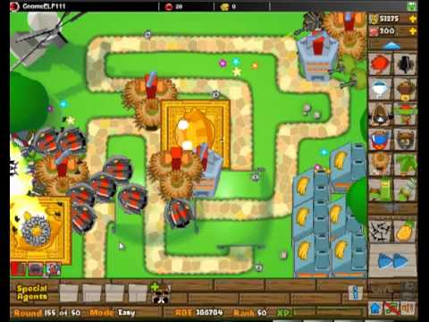 Bloons Tower Defense 5 - Round 155 Gameplay