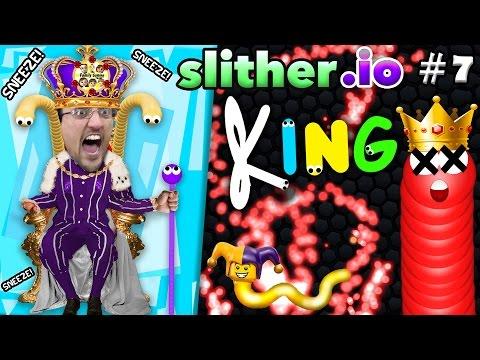 SLITHER.io #7: I AM KING! → Royal Death  →  KILL THE KING → SCORE! (FGTEEV #1 Leadboard Gameplay)