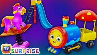 Surprise Eggs Nursery Rhymes Toys  Three Little Kittens Went To The Park  Learn Colours & Play Equipments  ChuChu TV Cutians