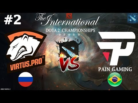 Дрались с ВП на РАВНЫХ | Virtus.Pro vs paiN #2 (BO2) | The International 2018 (видео)