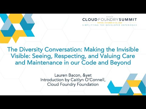 The Diversity Conversation: Making the Invisible Visible - Lauren Bacon, &yet