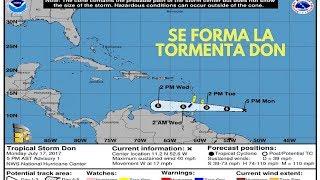 Se forma la tormenta Don en el Atlántico. #NA/247 #NA ACTUALIDAD Y NOTICIAS DEL MUNDO.Don es la cuarta tormenta de la temporada de huracanes del Atlántico, lo usual es que arribe en la tercera semana de agostoLa formación de la tormenta activó de inmediato una alerta para la isla de Granada, en el suroriente del Caribe.#NoticiasyActualidad    #ElArteDeServir #NAPagina de Facebookwww.facebook.com/elartedeservircrVisita nuestra web Recursos gratis www.elartedeservir.orgSí desea  mantenerse informado con los acontecimientos más recientes por favor visita nuestra página, utilizamos fuentes de información confiable para una noticia verídica,   Sí tienes una consulta acerca de algún tema de su interés, comunícate con nosotros a través de nuestra página de Facebook o bien por medio de un correo electrónico. También sí desea descargar materiales gratis ingresá a nuestra página web y encontrarás muchos recursos, esperamos que te sean de utilidad. Gracias por mantenerse informado con El Arte De Servirwww.elartedeservir.orgwww.facebook.com/elartedeservircrNota: No pedimos ni cobramos dinero por  ninguno de los servicios que brindamos  a nuestros seguidores, si alguna persona pide en nuestro nombre por favor reportarlo.Otras servicios http://www.elartedeservir.org/https://actualidad.rt.comhttp://noticiasyactualidad.org/