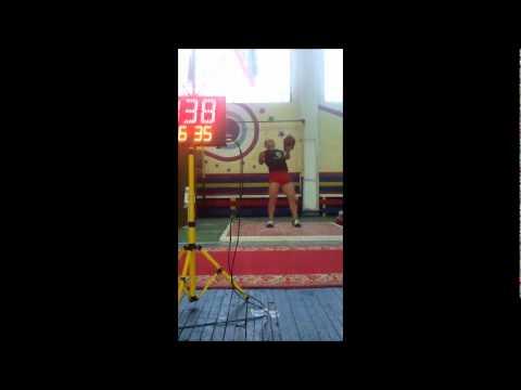New World Record * Fedor Fuglev * Kettlebell Snatch 32 kg - 220 reps  !!! 11/11/2011