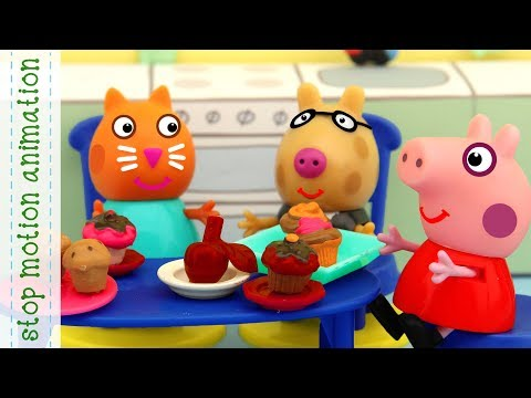 The Apple Story Peppa Pig toys stop motion animation