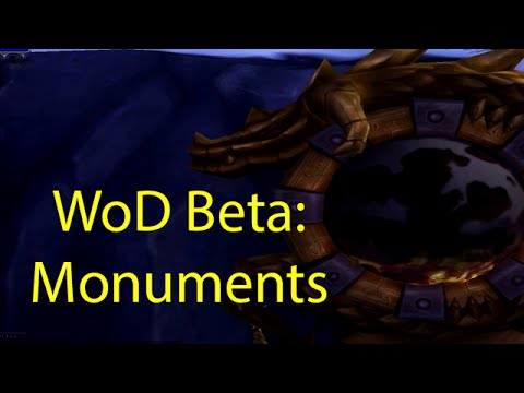 garrison - Checking out garrison monuments in the Warlords of Draenor beta. All footage is from WoD Beta and subject to change. ---wowcrendor links--- My Facebook Page: http://www.facebook.com/crendor...