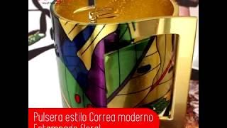 Pulsera estilo correa con Moderno estampado floral