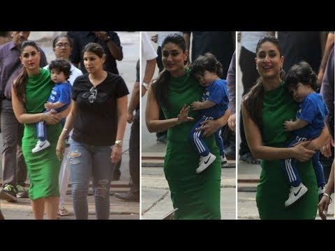 Taimur Ali Khan Comes To MEET Mommy Kareena Kapoor At Mehboob Studio