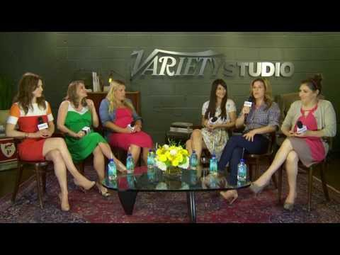 variety - Variety Emmy Studio Supporting Actress Comedy panel discussion with Ellie Kemper, Anna Chlumsky, BusyPhilipps, Hannah Simone, Ana Gasteyer and Mayim Bialik.