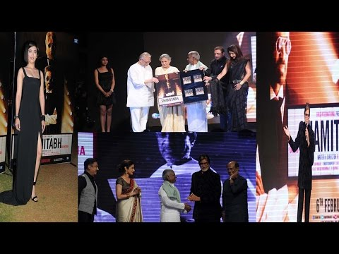 Amitabh Live Performance Of Piddly At Shamitabh Music Launch With Rajinikanth